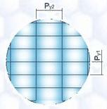 2次元配列 - 矩形(に)配列(する)レンズアレイ