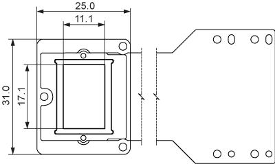 デイスプレイ外形寸法(単位:mm)