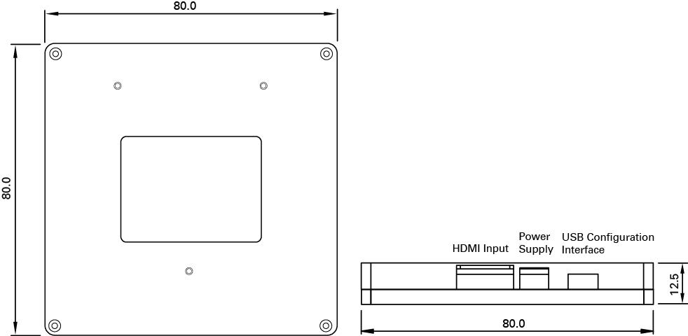 ドライバ外形寸法(単位:mm)